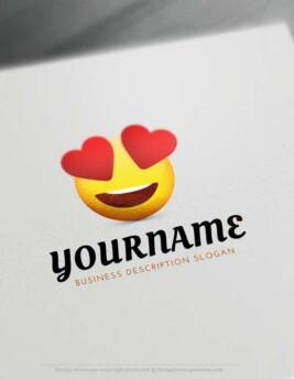 😍 Create Free Heart Eyes Emoji Logo with Online Logos Creator.