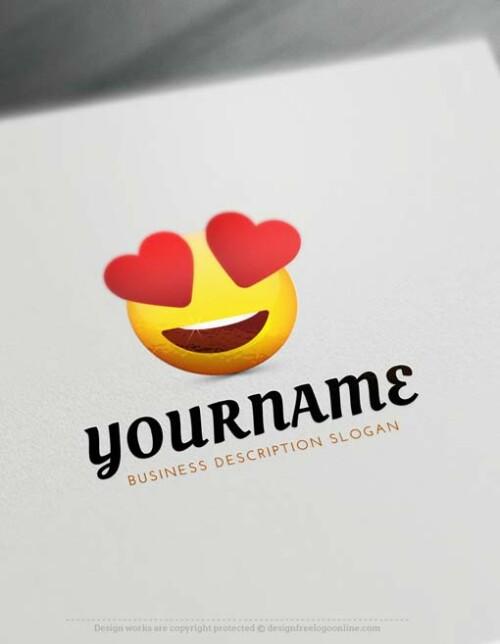 ? Create Free Heart Eyes Emoji Logo with Online Logos Creator.