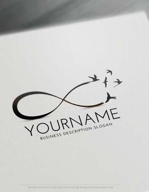 Free Logo Creator - Create Infinity Birds Logo with the Logomaker