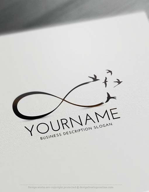 free logo creator create infinity birds logo with the logomaker. Black Bedroom Furniture Sets. Home Design Ideas