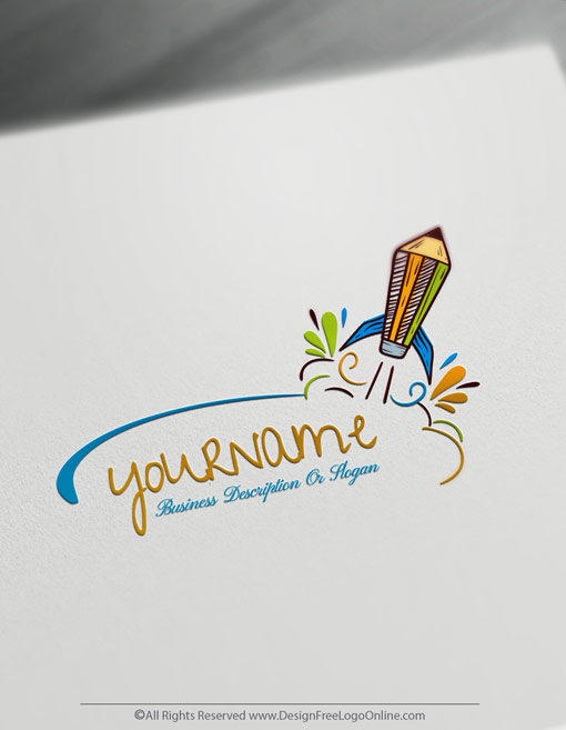 create free pencil logo with online education logo maker