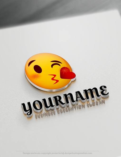 Create 😘 Free Emoji Blowing Kiss Logo with Online Logos Creator