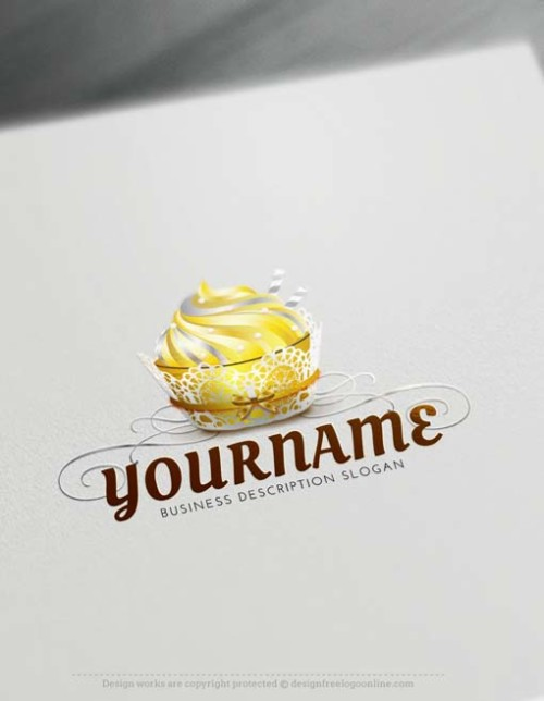 Make your own wedding cake logo. Bakery Logo Design Free Logo Creator