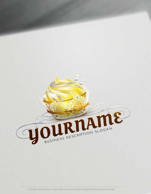 Make your own wedding cake logo. Bakery Logo Design Free Logo Creator