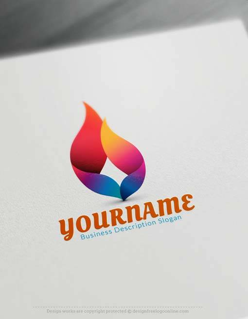 Free Logo Creator - Create 3D flame Logo with 3D Logo Maker