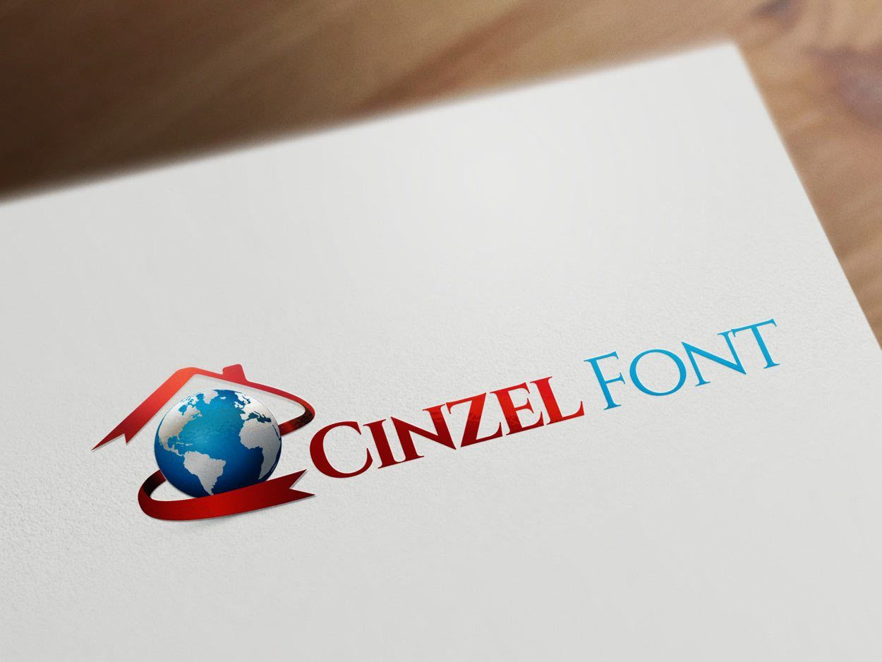 Cinzel font for real estate