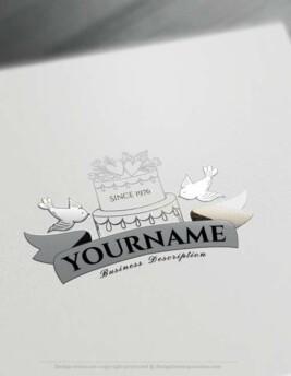 Free Logo Creator - Create Vintage Wedding Logo Design with Logomaker