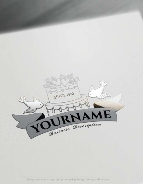Free Logo Creator - Create Vintage Wedding Logo Design with Logomaker