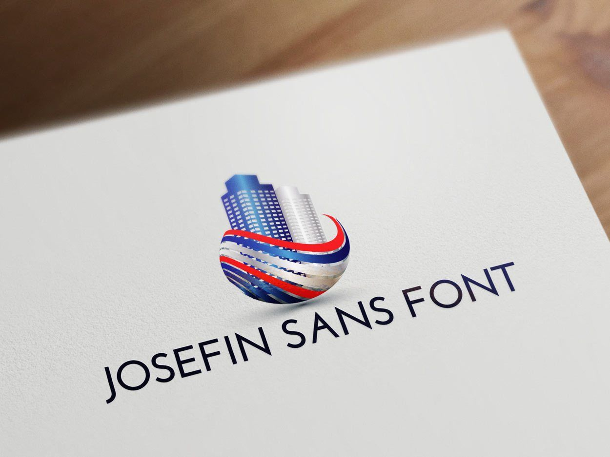 Josefin Sans font for real estate