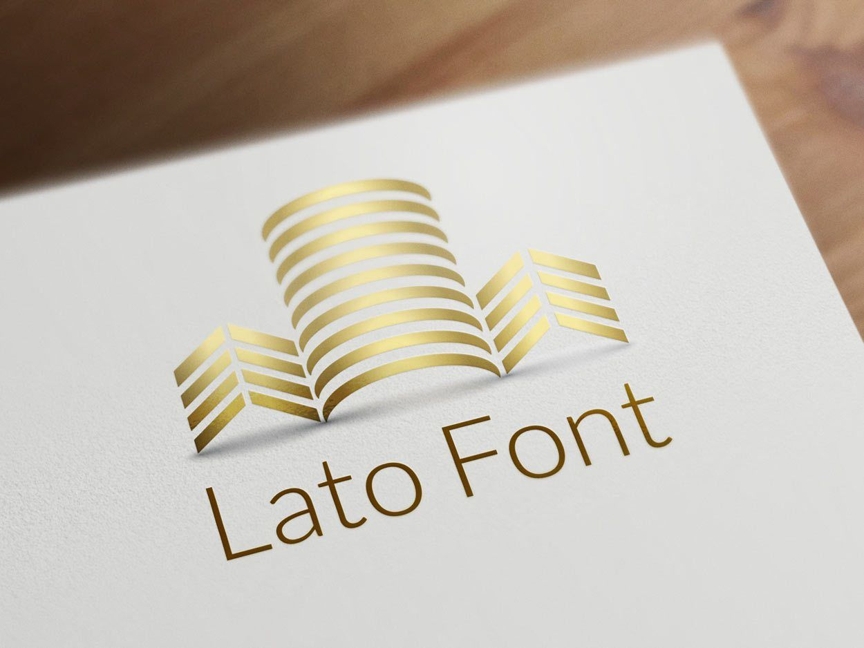 Lato font for real estate
