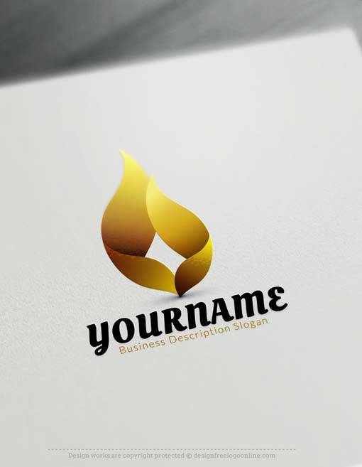 Create GOLD 3D flame Logo with 3D Logo Maker