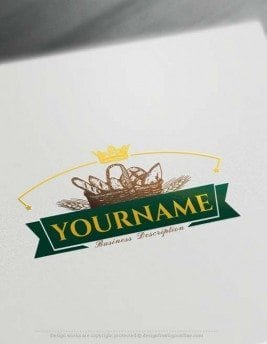 Online Create Vintage Bakery Logo Design with the Logo Creator Free