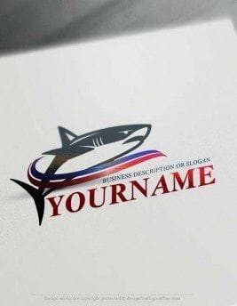 Create Powerful Shark Logo with the best Free Logo Creator