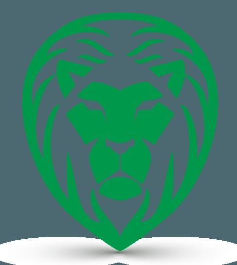 free logo maker powerful lion head logo creator