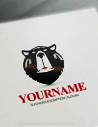 Free Logos Creator - American black Bear Head Logo Maker