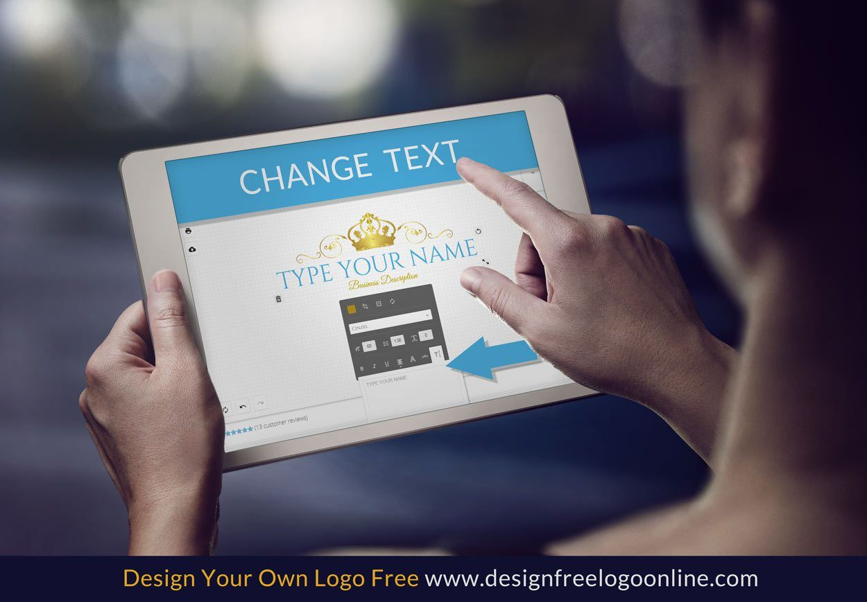 How to change text with the logo maker