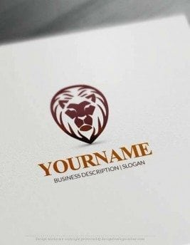 Create Powerful Lion Head Logo with the best Free Logo Creator