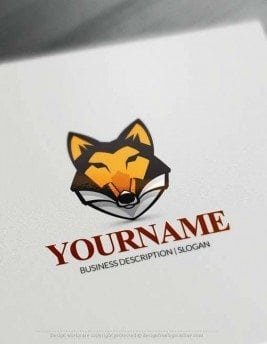 Create Strong Wolf Head Logo with the best Free Logo Creator