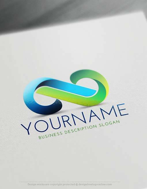 Free Infinity Logo Creator - Create Free Infinity 3D Logo Maker