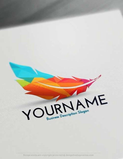 Online Create Feather Logo with the best Free Logos Creator