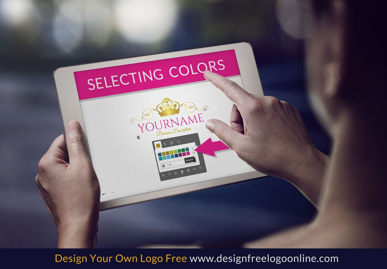 How to change colors with the logo maker
