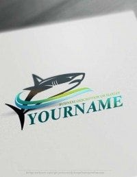 Free Logo Maker shark logo design
