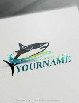 Free Logo Maker shark logo design