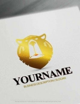 brown Ursus Bear Head Logo Maker