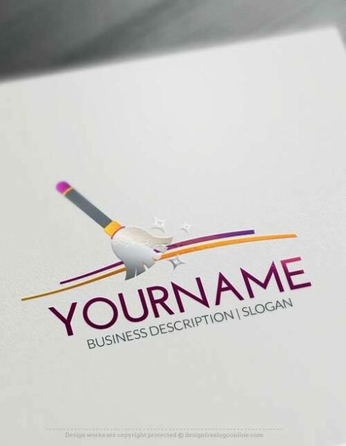 Free Logo Creator Broom Cleaning Logo