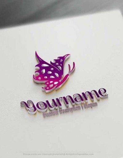 free Butterfly Logo design