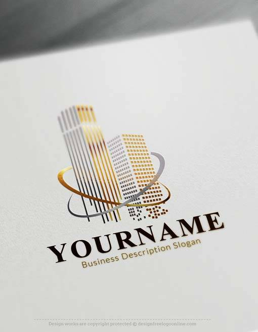 Online Logo Maker Luxury towers Logo Template