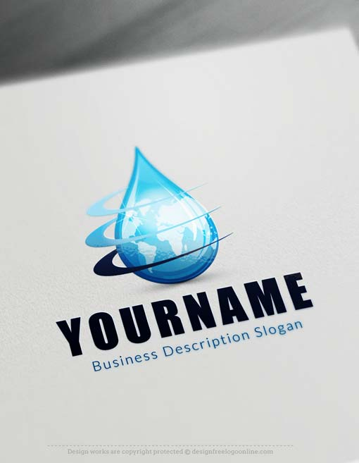 Online Make Your Own water Drop Logo Free Logo Creator