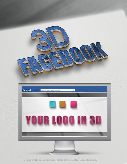 3d Facebook cover