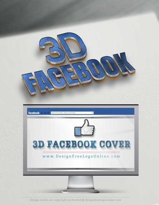 3D Facebook Cover With a Special 3D Logo effect