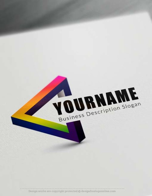 Free 3D Logo Maker - 3D triangle Logo Creator