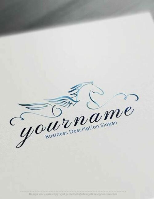Free Flying Pegasus Logo Creator - Create horse logo free