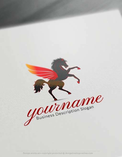 Free Greek Pegasus Logo Creator - Create horse logo free