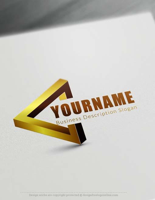 Free 3d Logo Maker 3d Triangle Logo Creator Design