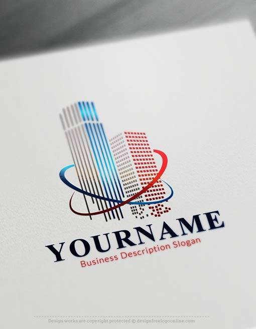 Online Logo Maker Free USA towers Logo Template