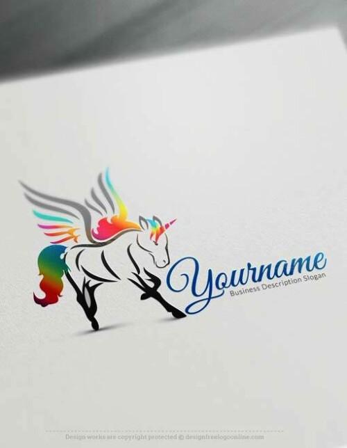 Online Logo Maker Free Unicorn Logo Templates - horse logos