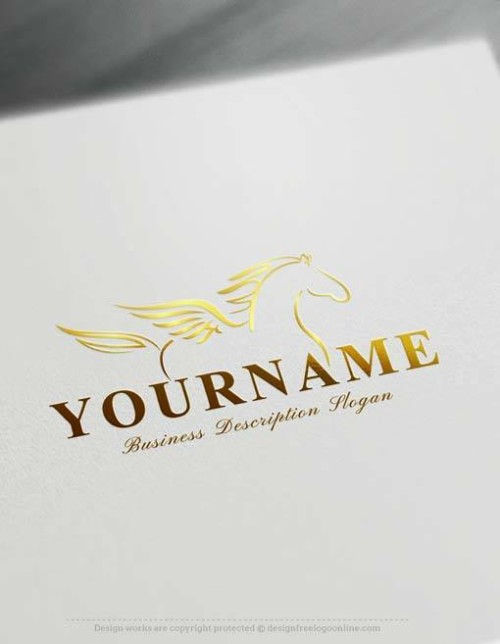 Free Logo Creator Online Winged Pegasus Logo Creator