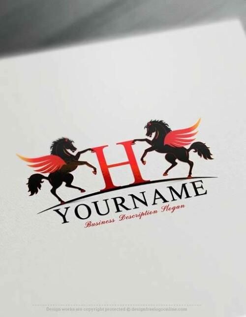 Pegasus image logo maker