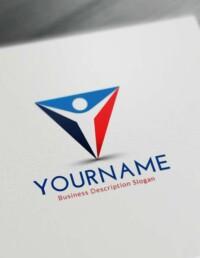 Free Logo Maker Design - Triangle Human Logo Creator