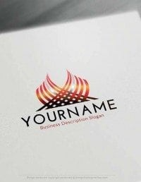 Free Logo Creator - Online Create abstract flame Logos