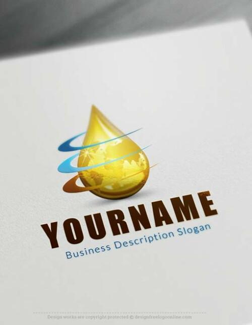 Online Make Your Own oil Drop Logo Free Logo Creator