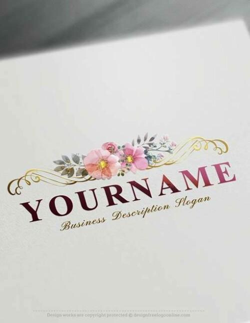 Online Logo Creator Free Elegant Floral Logo Maker