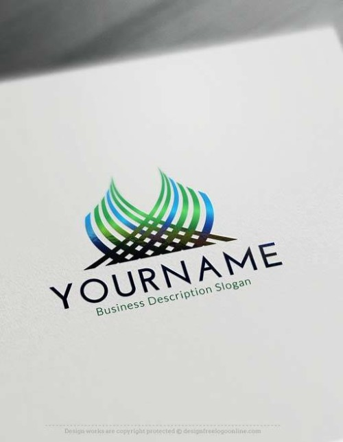 Free Logo Creator - Online Create green abstract Logos