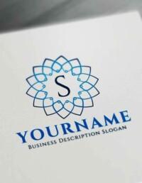 Free Floral Geometric Logo Creator - Letter Logo Decor Maker