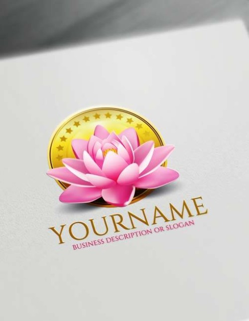Free spa 3D Lotus Logo Design Maker