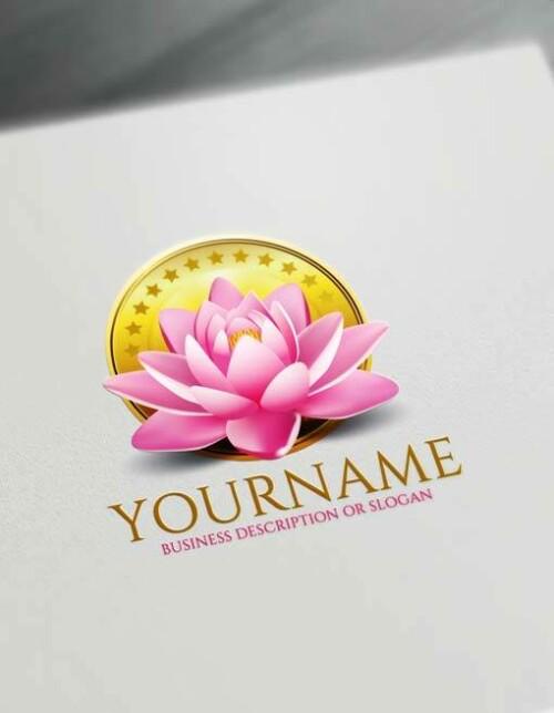 Free spa 3D Lotus Logo Design Maker